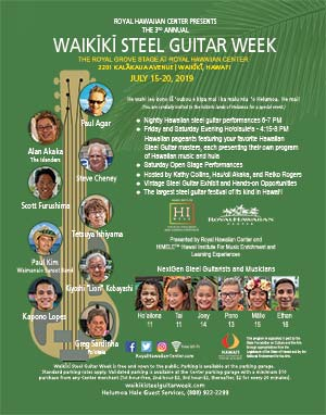 2019 Waikiki Steel Guitar Week Poster
